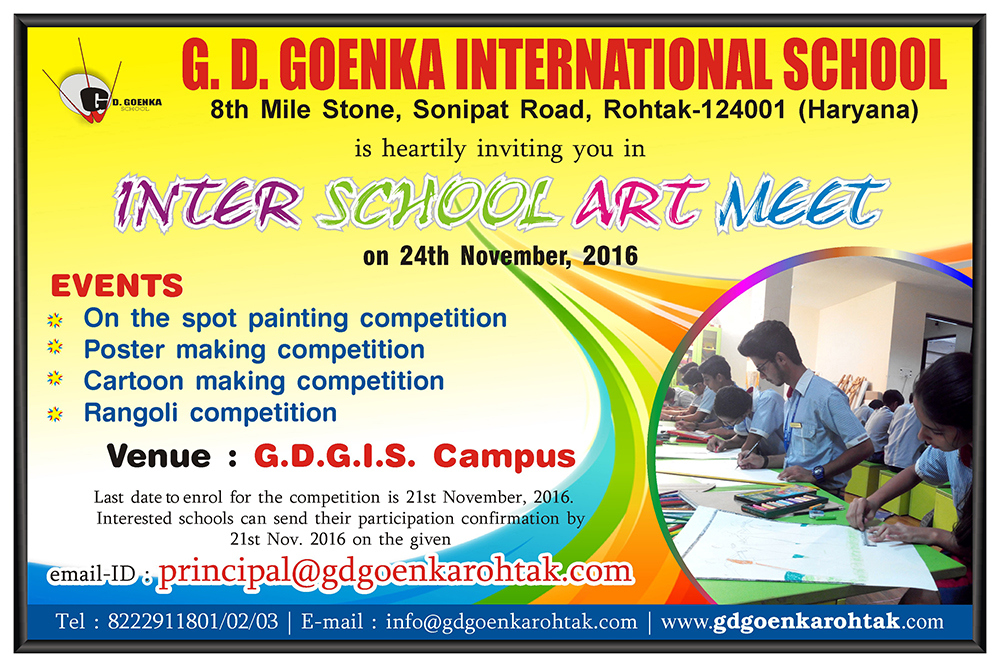 Gd Goenka International School Rohtak Invitation For Inter